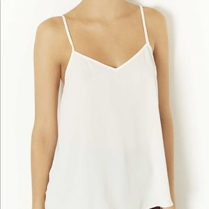 Topshop Silk Tank Top
